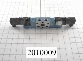 """Valves, Electro Mechanical Type, 3 Position / 5 Way Operation, Double Coil, 120/110 VAC Coil Voltage, 3/8"""" NPT Port, Works w/Manifold, 1.4 CCV, Challenger Function"""