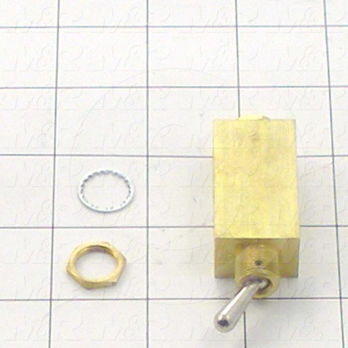 Valves, Manual Type, 4 Way Operation, #10-32 Port, 150 Psig Max. Pressure, Flow 10 Scfm