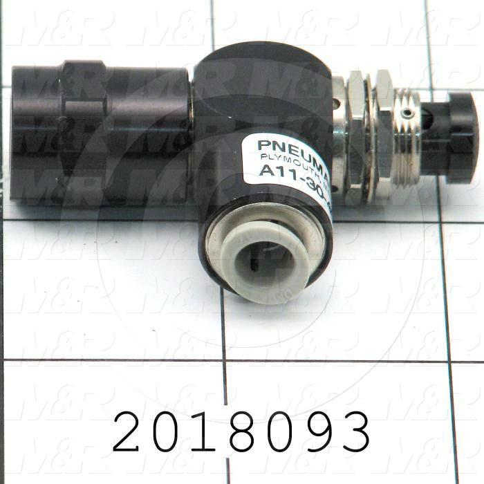"Valves Mechanical / Hand, Push Button Manual Valve Type, 1/8"" NPT Port In, 1/4"" OD Port Out, 3 Way Operation"