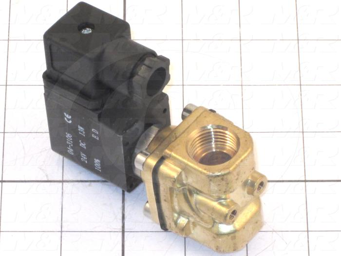 Valves, Solenoid Valve Type, 2 Way Operation, 12 VDC Coil Voltage, 1/2 BSP Port, NBR Seal, 12 Bar Max. Pressure