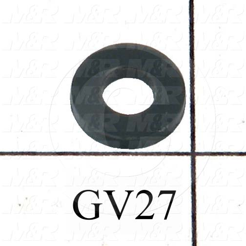 "Washers and Shims, Polyvinyl Chloride (PVC), Flat Washer Type, #8 Screw Size, Inside Diameter 0.203 in., Outside Diameter 0.438 in., 0.063"" Thickness"