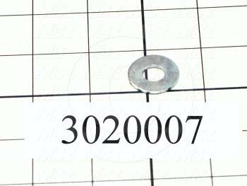 """Washers and Shims, Steel, Wrought Flat Washer Type, 5/16"""" Screw Size, Inside Diameter 0.38 in., Outside Diameter 0.880"""", 0.08"""" Thickness, Zinc"""