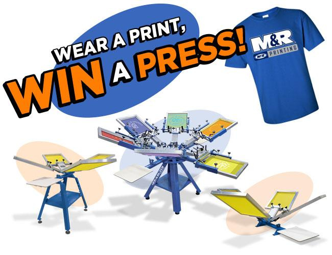 Wear a print, win a press