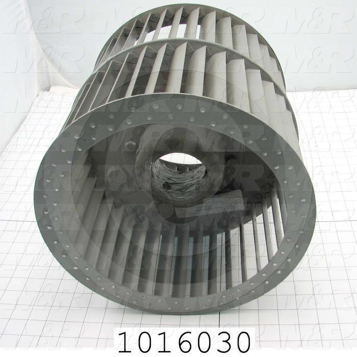 "Wheel, Wheel Diameter 12"", Inlet Double, Bore Size 2.94"", Temperature Rating 500F, Max. Air flow 6500CFM"