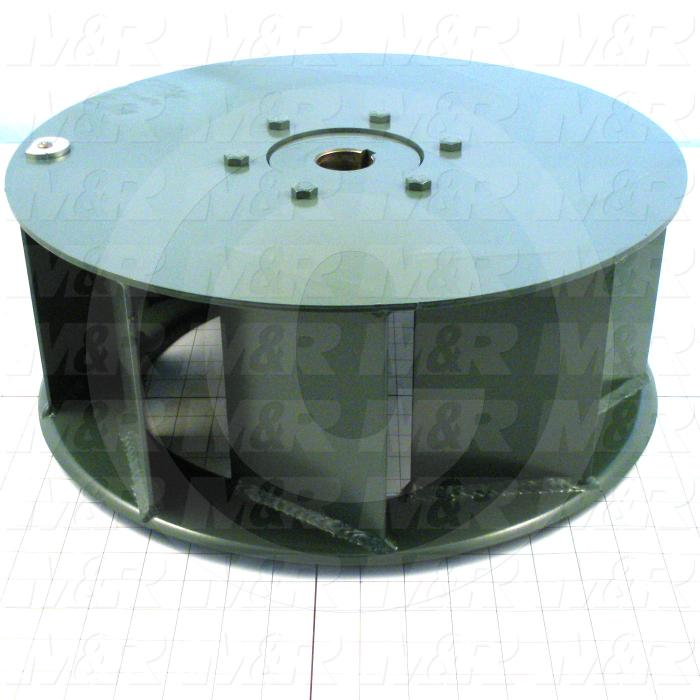 "Wheel, Wheel Diameter 16"", Inlet Single, Bore Size 1.44"", Temperature Rating 500F, Max. Air flow 3090CFM"