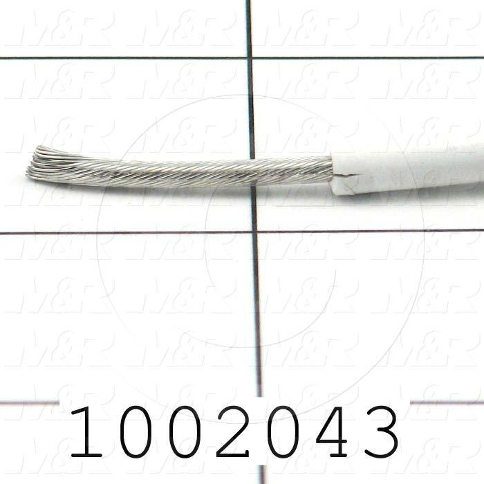 Wire, 12AWG, White Braidless, 15KV