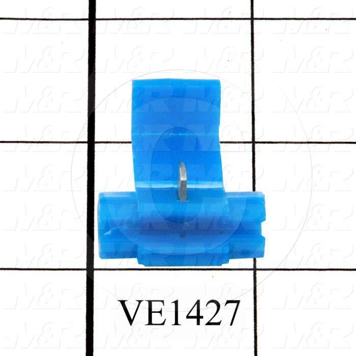 Wire Connector, Insulation Displacement Connector, Blue, 2, 18AWG Minimum Wire Size, 2, 14AWG Maximum Wire Size, 600V, Stranded Wire