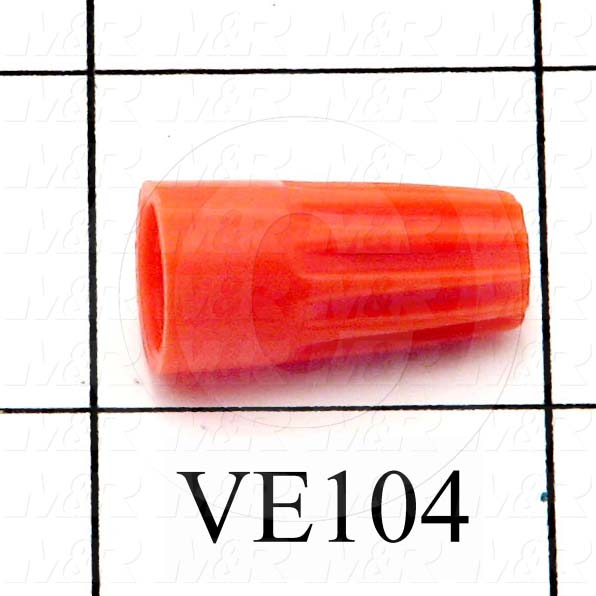 Wire Connector, Orange, 22AWG Minimum Wire Size, 14AWG Maximum Wire Size