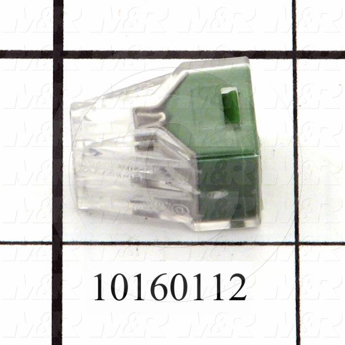 Wire Connector, Pushwire, 16AWG Minimum Wire Size, 12AWG Maximum Wire Size, Stranded Wire, 4 Conductors