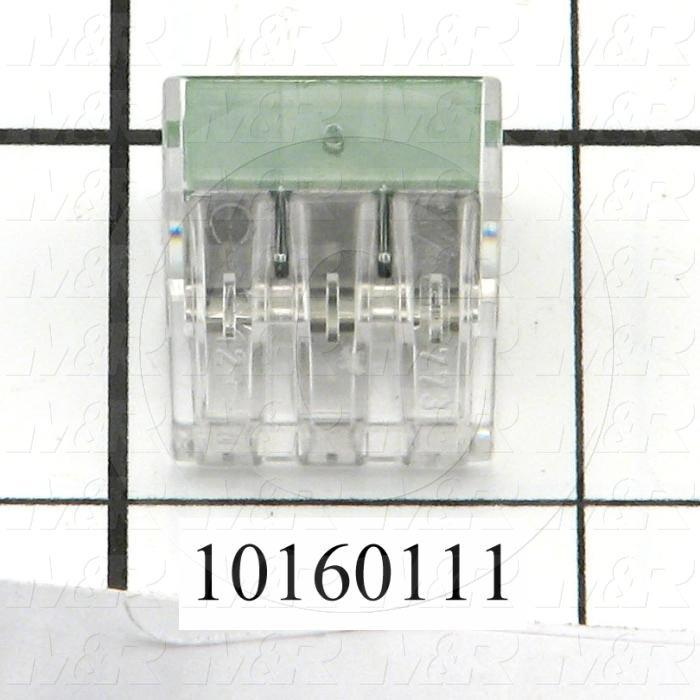 Wire Connector, Pushwire, 16AWG Minimum Wire Size, 12AWG Maximum Wire Size, Stranded Wire, 6 Conductors