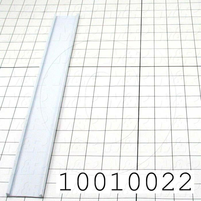 """Wire Duct Cover, 2"""", White"""