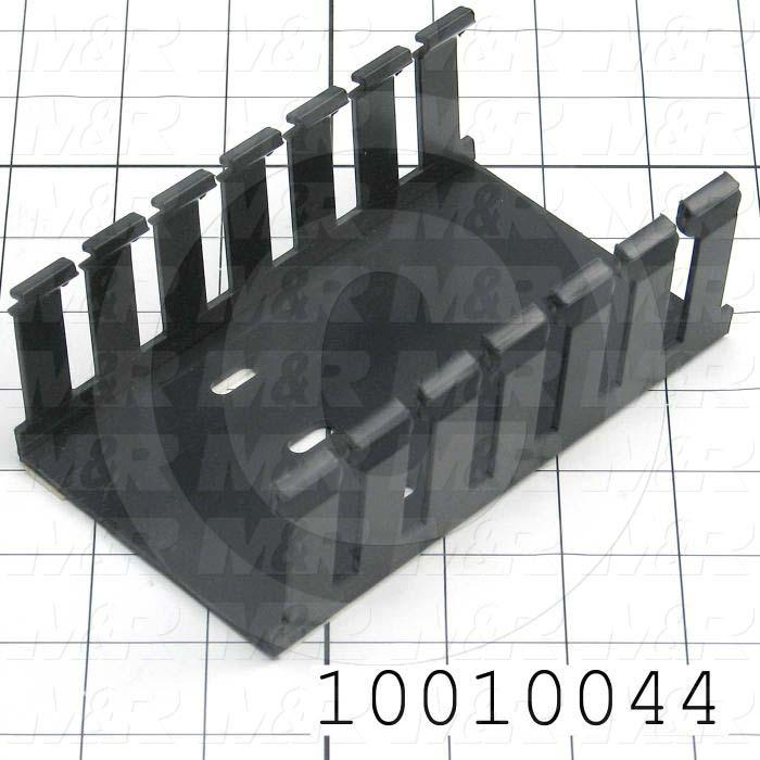WIRE DUCT, SLOTTED 3X2 BLACK