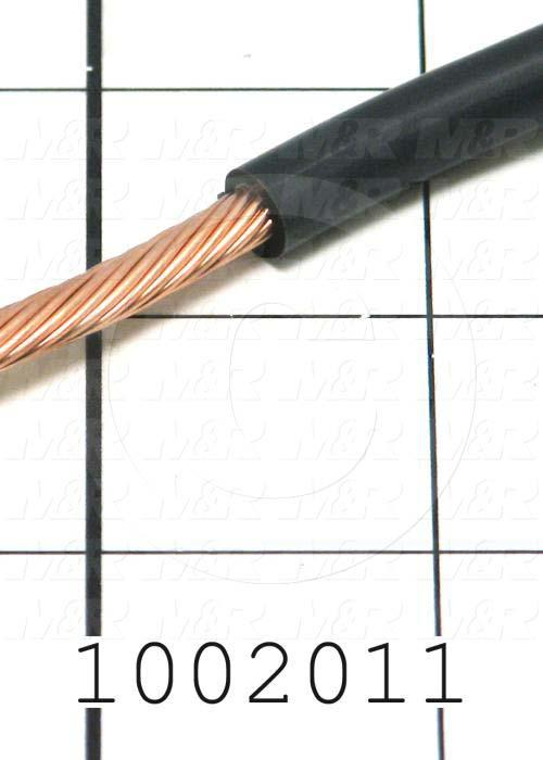 Wire, Ignition, 6AWG, Black, 600V