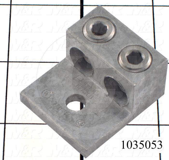 """Wire Terminal, Ground Lug, Wire Range 2x14-1/0AWG, #1/4"""" Stud Size"""