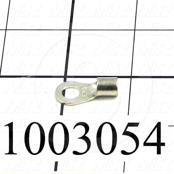 """Wire Terminal, Ring, Wire Range 8AWG, #1/4"""" Stud Size"""