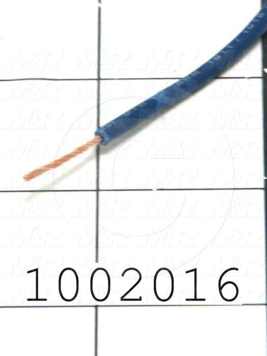 Wire, tfn solid, 18AWG, Blue
