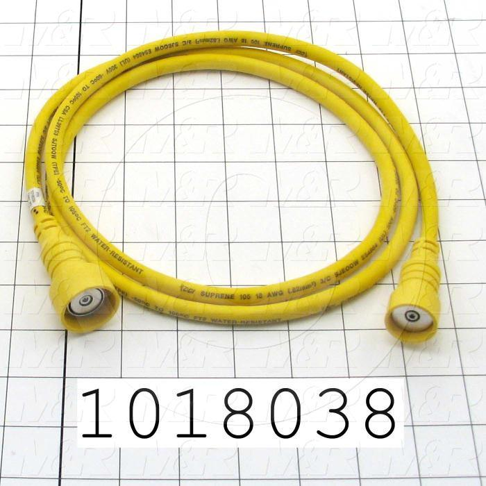 "Yellow Cord, Cycle Interruption, 60"", Magnetic, Double Ended Connection"