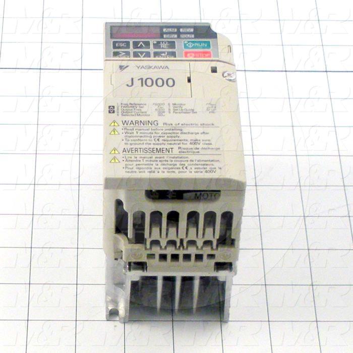 AC Drive, CIMR-J1000 Series, 0.37KW (1/2HP), 208-230VAC, 3 Phase