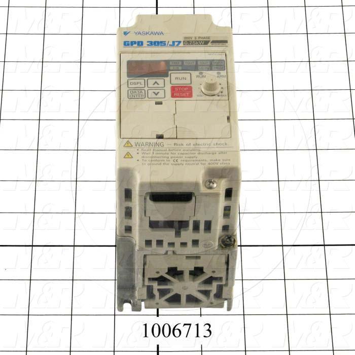 AC Drive, CIMR-J7 Series, 0.75KW (1HP), 208-230VAC