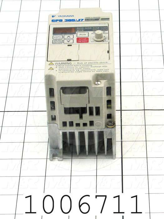 AC Drive, FR-S510WE Series, 0.37KW (1/2HP), 208-230VAC, 3 Phase