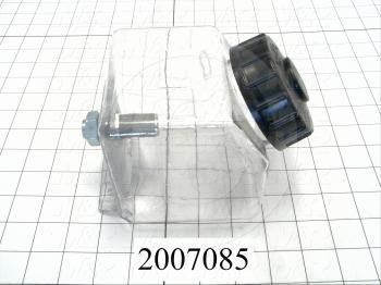 Adjustable-Flow Oil Reservoir, Capacity 1 Qt, Note : Square Polycarbonate