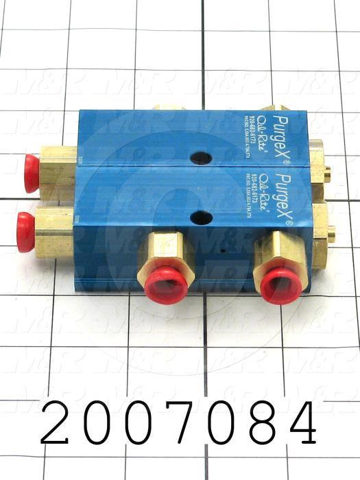 Air Injector Pump, 2 Pump(s) in the Unit, 2 Feeds, 3.25 in. Width, 4.09 in. Length, 40.00 psi Inlet Air Pressure Min., 120.00 psi Inlet Air Pressure Max.