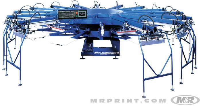 Challenger II & II OS Automatic Screen Printing Press