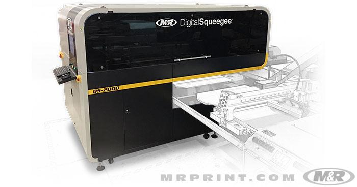 M&R's DS-2000 Digital Squeegee sets the standard for Hybrid printing.