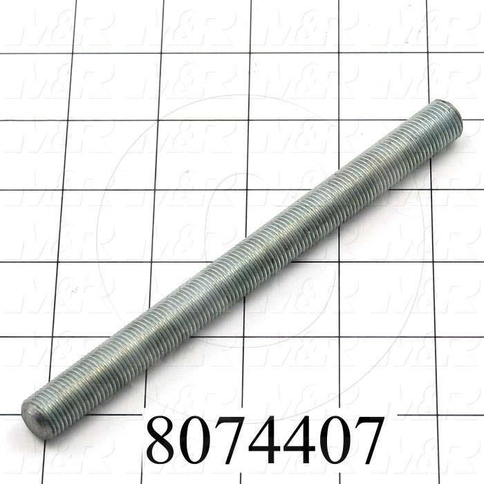"""Fabricated Parts, 1/2-20 Threaded Rod 6"""", 6.00 in. Length, 1/2-20 Thread Size, As Material Finish"""