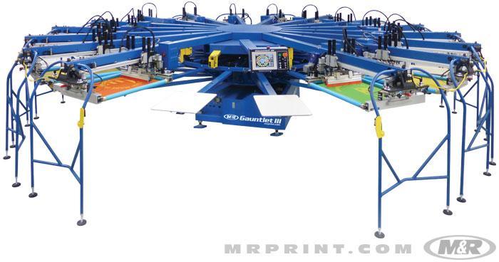 Gauntlet III Automatic Screen Printing Press