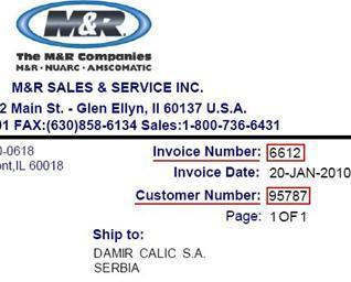 Sample invoice image
