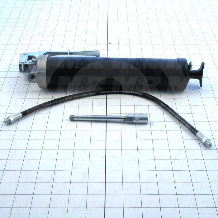"""Tools, Grease Gun Type, Comes With 18"""" Hose and 6"""" Pipe, 3 Way Loading Action Gun"""